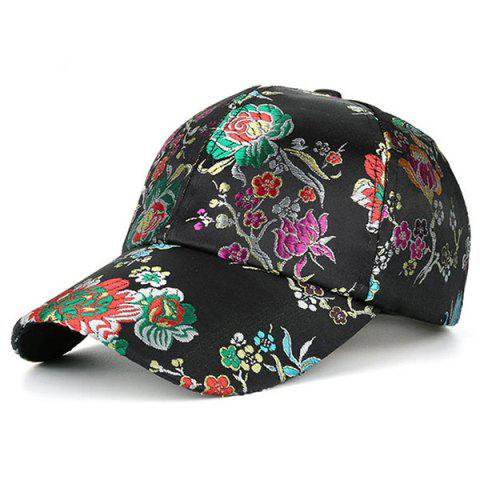 Sale Retro Floral Pattern Embroidery Graphic Hat