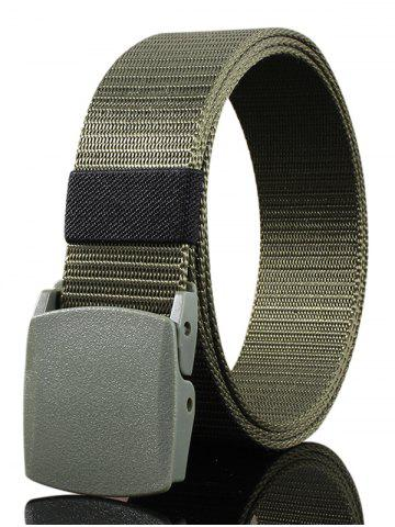 Sale Vintage Metal Buckle Embellished Canvas Belt