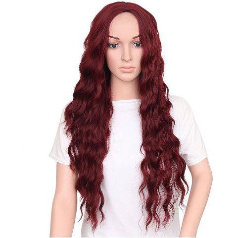 Store Long Middle Part Wavy Heat Resistant Synthetic Wig