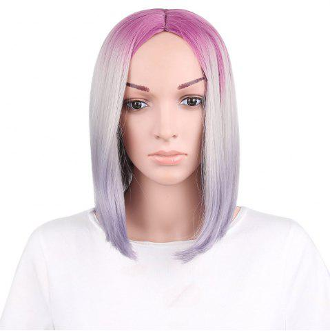 Outfit Short Center Parting Ombre Straight Bob Synthetic Wig