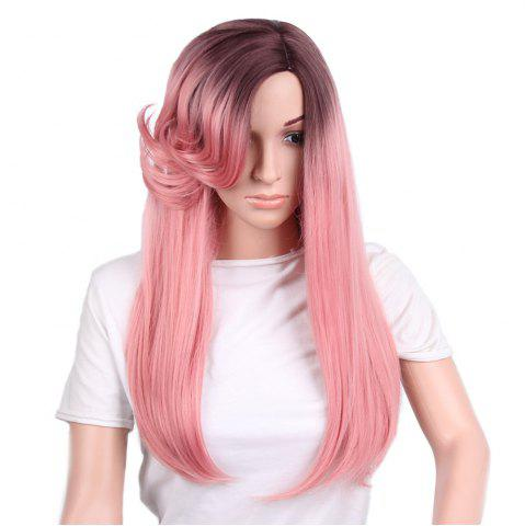 Shops Long Curly Side Parting Ombre Straight Synthetic Wig
