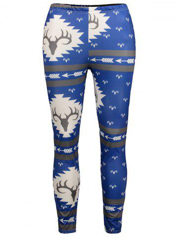 Outfit Antlers Print High Waisted Christmas Leggings