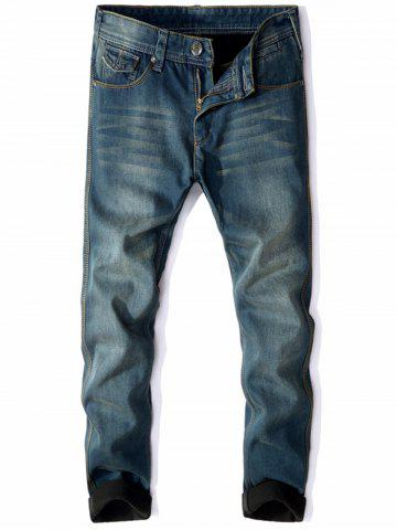 Pantalon en denim floquant