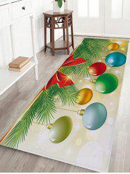 Christmas Baubles Pine Tree Pattern Anti-skid Water Absorption Area Rug -