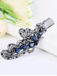 Vintage Butterfly Shape Rhinestone Embellished Faux Gem Hairpin -