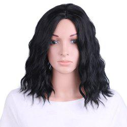 Medium Center Part Natural Wavy Synthetic Wig -