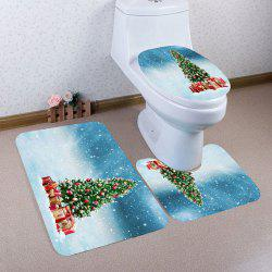 Snows and Christmas Tree Pattern 3Pcs Bathroom Mats Set -