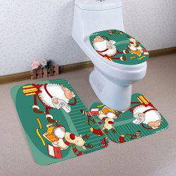 Cartoon Father Christmas Pattern 3Pcs Bathroom Mats Set -