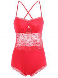 Criss Cross Lace Slip Teddy -