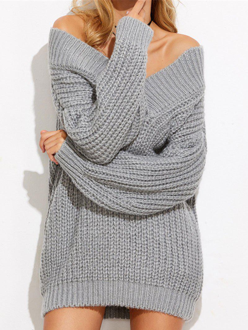 Fashion Off The Shoulder Mini Chunky Sweater Dress