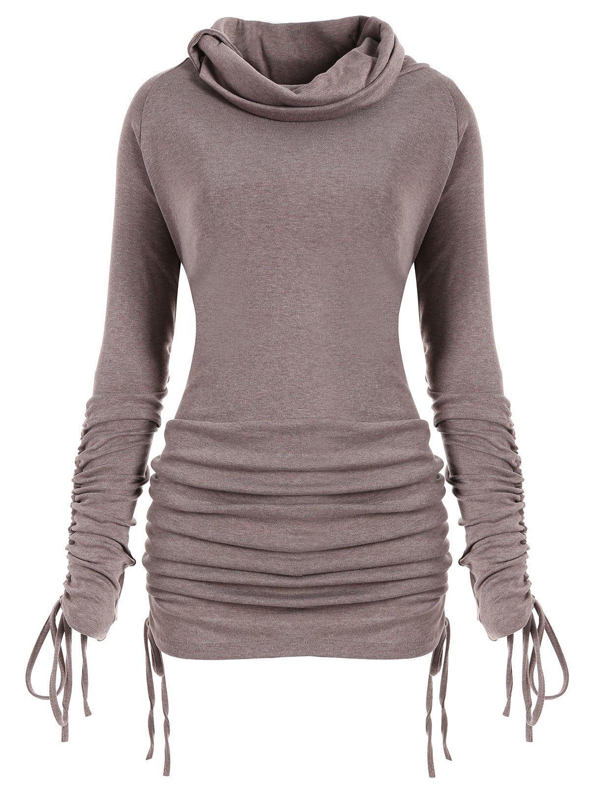 Sweat-shirt Grande Taille Long Convertible
