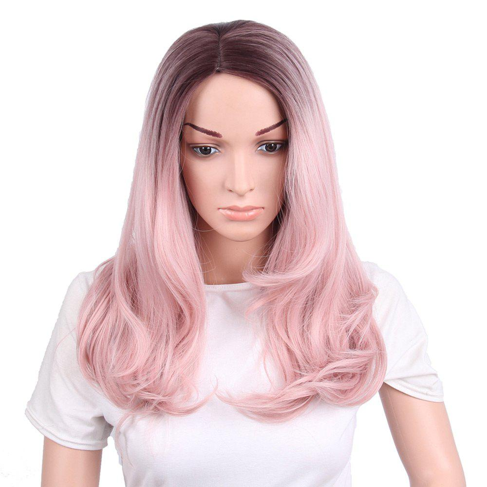 Best Long Side Parting Wavy Ombre Synthetic Wig