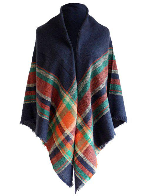 Vintage Tartan Pattern Fringed Shawl ScarfACCESSORIES<br><br>Color: CADETBLUE; Scarf Type: Scarf; Scarf Length: 135-175CM; Group: Adult; Gender: For Women; Style: Fashion; Season: Fall,Spring,Winter; Scarf Width (CM): 140CM; Length (CM): 140CM; Weight: 0.2400kg; Package Contents: 1 x Scarf;