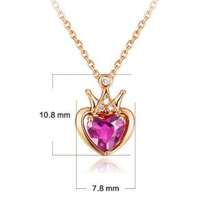 Rhinestoned Crown Heart Collarbone Pendant Necklace -