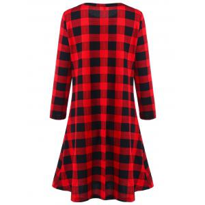 Christmas Plaid Swing Mini Dress -