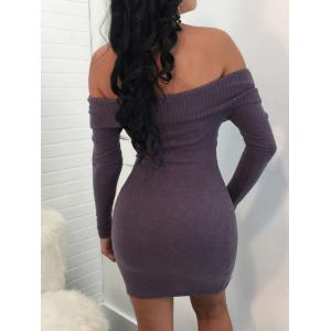 Off The Shoulder Bodycon Sweater Dress -