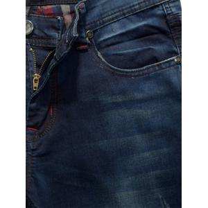 Panel Design Zip Fly Straight Leg Jeans -