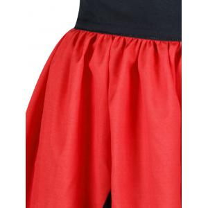 A Line Two Tone Rhombus Skirt -