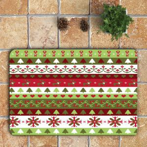 Christmas Series Pattern 3 Pcs Bath Mat Toilet Mat -