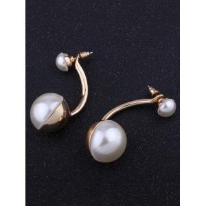 Artificial Pearl Front Back Ear Jackets -