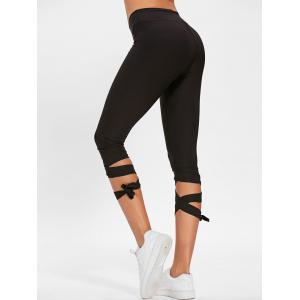Lace Up taille haute Capri Gym pantalon -