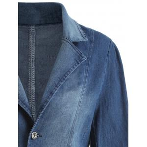 Lapel Plus Size Denim Jacket -