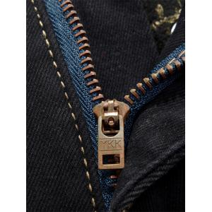 Zip Fly Embroidery Pocket Flocking Jeans -