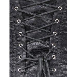 Zip Lace-up Rivet Studded Corset -