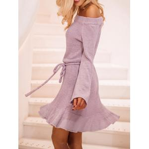 Off The Shoulder Bell manches robe à volants -