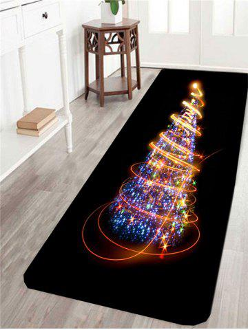 Colorful Lighting Christmas Tree Printed Skidproof Rug
