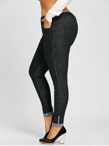 Affordable Plus Size Roll Up Leg Tall Jeans Pants