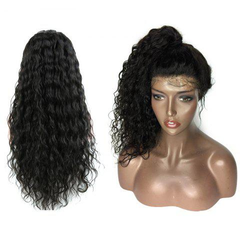 New Medium Free Part Fluffy Water Wave Lace Front Human Hair Wig