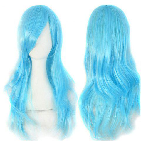 Hot Long Side Bang Wavy Cosplay Synthetic Wig