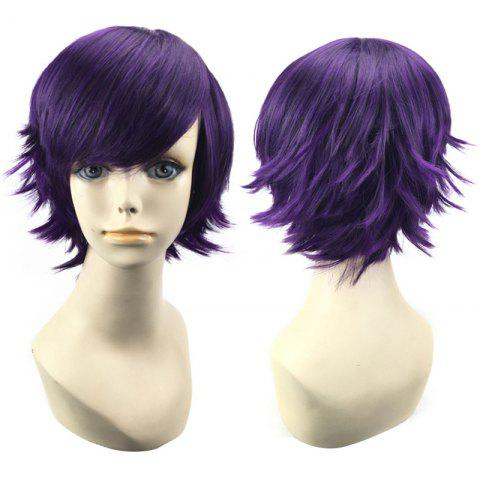 New Short Side Bang Straight Synthetic Cosplay Wig