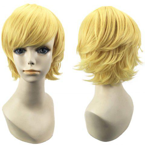 Chic Short Side Bang Straight Synthetic Cosplay Wig