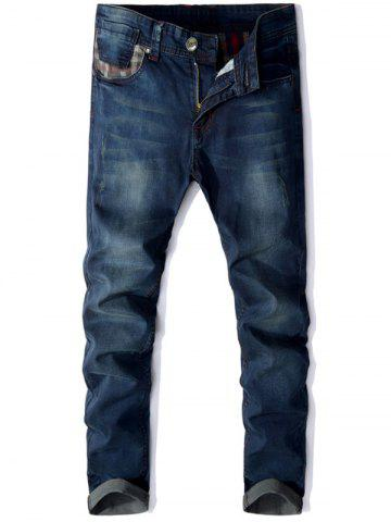 Hot Panel Design Zip Fly Straight Leg Jeans