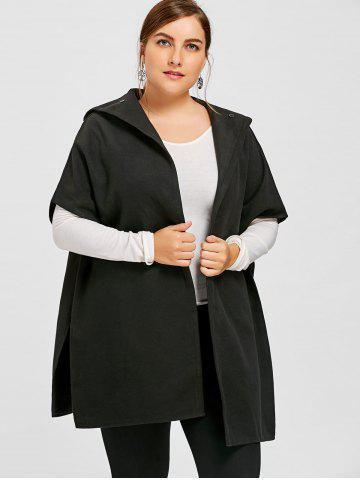 Shops Hooded Plus Size Capelet Coat