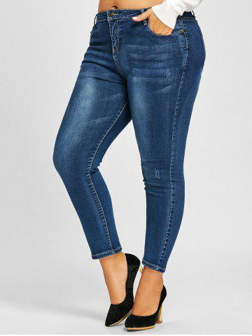 Affordable Zipper Fly Plus Size Slimming Jeans