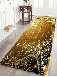 Sparkling Christmas Tree Letter Print Fleece Skidproof Bath Mat -