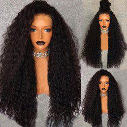 Long Free Part Fluffy Water Wave Lace Front Human Hair Wig -