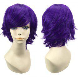 Short Side Bang Straight Synthetic Cosplay Wig -