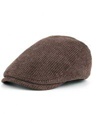 Multipurpose Striped Pattern Embellished Adjustable Duckbill Hat -