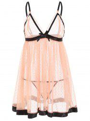 See Through Mesh Cami Babydoll -