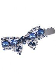 Vintage bowknot forme strass Faux Gem en épingle à cheveux -