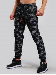 Fish Net Camo Print Jogger Pants -