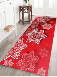 Christmas Snowflakes Pattern Anti-skid Water Absorption Area Rug -