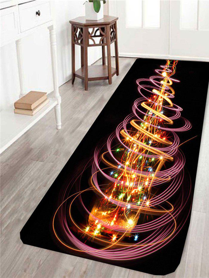 Colored Christmas Tree Pattern Skidproof RugHOME<br><br>Size: W24 INCH * L71 INCH; Color: COLORFUL; Products Type: Bath rugs; Materials: Coral FLeece; Pattern: Christmas Tree; Style: Fashion; Shape: Rectangle; Package Contents: 1 x Rug;