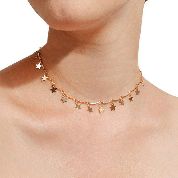 Star Charm Chain NecklaceJEWELRY<br><br>Color: GOLDEN; Item Type: Pendant Necklace; Gender: For Women; Necklace Type: Link Chain; Style: Trendy; Shape/Pattern: Star; Length: 38CM; Weight: 0.0300kg; Package Contents: 1 x Necklace;