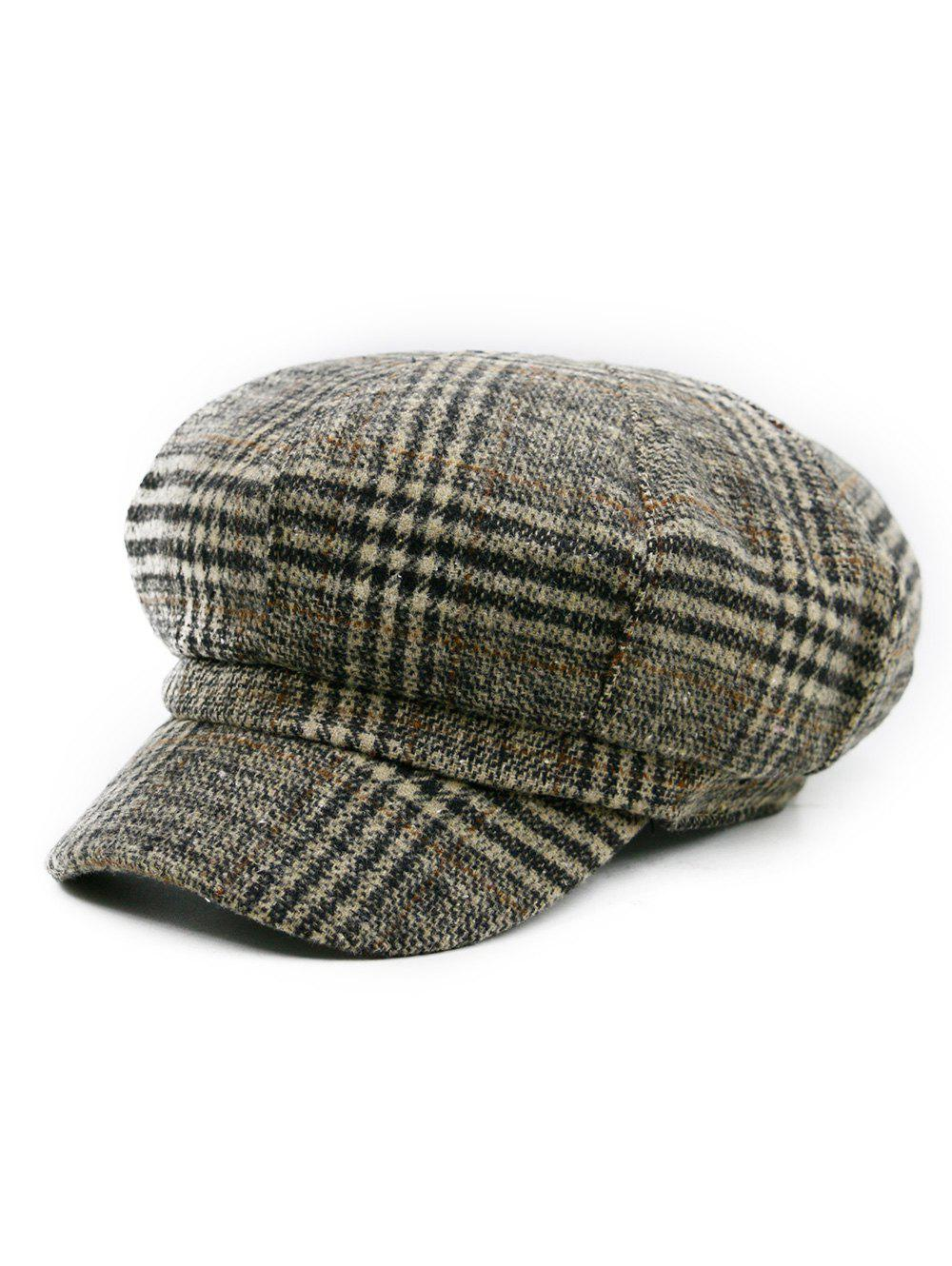 Vintage Houndstooth Pattern Embellished Newsboy HatACCESSORIES<br><br>Color: PATTERN C; Hat Type: Newsboy Caps; Group: Adult; Gender: For Men; Style: Fashion; Pattern Type: Others; Material: Acrylic; Circumference (CM): 56-57CM; Weight: 0.1200kg; Package Contents: 1 x Hat;