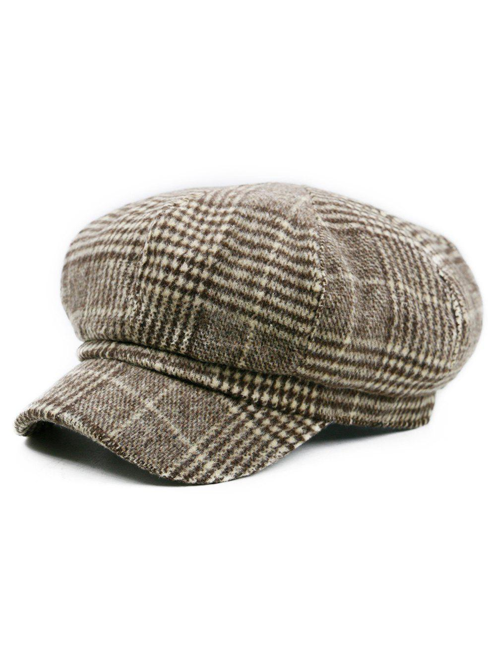 Vintage Houndstooth Pattern Embellished Newsboy HatACCESSORIES<br><br>Color: PATTERN B; Hat Type: Newsboy Caps; Group: Adult; Gender: For Men; Style: Fashion; Pattern Type: Others; Material: Acrylic; Circumference (CM): 56-57CM; Weight: 0.1200kg; Package Contents: 1 x Hat;